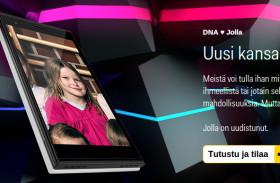 Jak sieć DNA reklamuje Jollę.